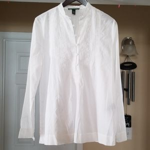 Lauren by Ralph Lauren White Tunic